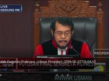 Sah! MK Tolak Seluruh Gugatan Prabowo-Sandi