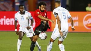 FOTO: Gol Perdana Salah Bawa Mesir ke 16 Besar Piala Afrika