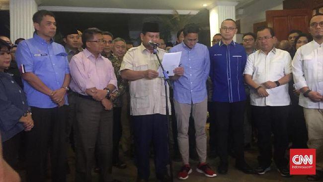 Prabowo Hormati Putusan MK soal Gugatan Pilpres 2019