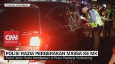 VIDEO: Polisi Razia Pergerakan Massa ke MK