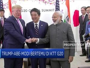 Trump, Abe, dan Modi Bertemu di KTT G20