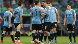 FOTO: Timnas Uruguay Sial di Perempat Final Copa America