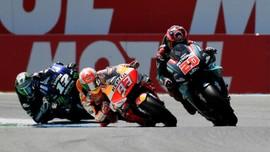 Hasil MotoGP Belanda 2019: Vinales Kalahkan Marquez