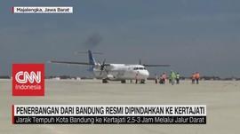 VIDEO: Penerbangan Dari Bandung Resmi Pindah ke Kertajati