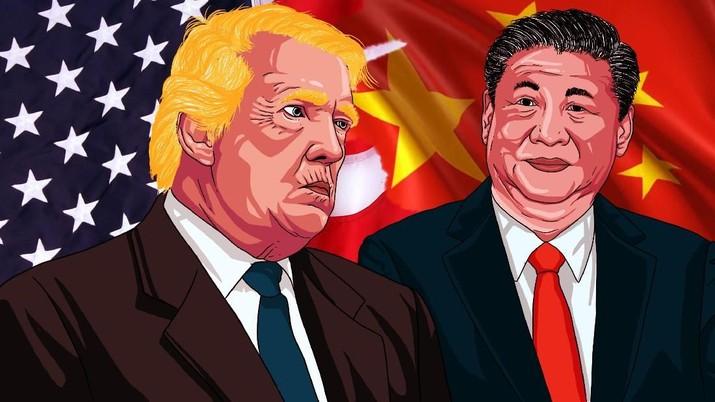 Infografis: Jejak Perang Dagang: Trump Memulai, Trump Mengakhiri