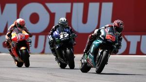 Hasil FP1 MotoGP Inggris: Quartararo Kalahkan Marquez
