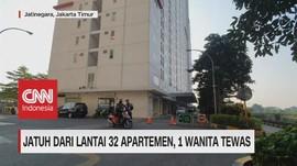 VIDEO: Jatuh Dari Lantai 32 Apartemen. 1 Wanita Tewas