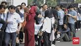 Berdasarkan data Badan Pusat Statistik, tingkat pengangguran dalam setahun terakhir sebenarnya sudah menurun sebanyak 50 ribu orang. (CNN Indonesia/Adhi Wicaksono)