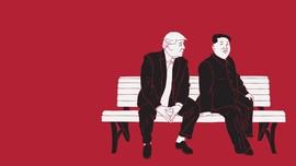 INFOGRAFIS: Celoteh Trump dan Kim Jong-un Saat Jumpa di DMZ