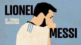 INFOGRAFIS: Daftar Kegagalan Messi di Timnas Argentina