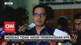 VIDEO: Mendag Tidak Hadir Pemeriksaan KPK