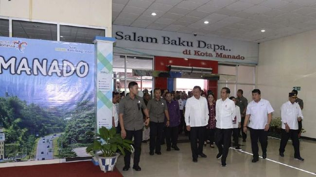 Sambut Turis, Jokowi Minta Bandara Sam Ratulangi Diperluas