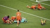 Skor 1-0 bertahan hingga akhir pertandingan. Belanda berhak lolos ke babak final Piala Dunia Wanita. (REUTERS/Lucy Nicholson)