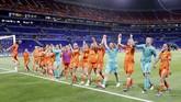 Belanda akan menghadapi Amerika Serikat yang merupakan juara bertahan di Piala Dunia Wanita. (REUTERS/Bernadett Szabo)