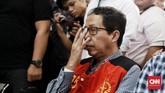 Hari ini Joko Driyono dituntut kurungan penjara selama dua tahun enam bulan oleh Jaksa Penuntun Umum di Pengadilan Negeri Jakarta Selatan. (CNN Indonesia/Andry Novelino)