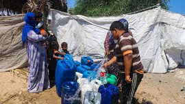 ACT Distribusikan Ratusan Liter Air Bersih di Palestina