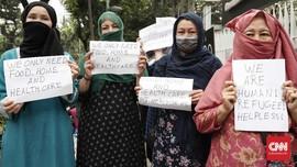 Imigran di Medan Demo UNHCR Desak Dikirim ke Negara Tujuan