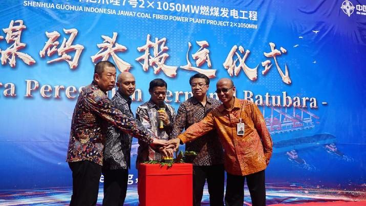 Pembangunan pembangkit PLTU Jawa 7 Tahap 1 berkapasitas 1000 MW sudah mencapai 95%, begini wujudnya