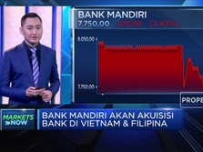 Berencana Akuisi Bank, Saham BMRI Anjlok