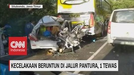 VIDEO: Kecelakaan Beruntun di Jalur Pantura, 1 Tewas