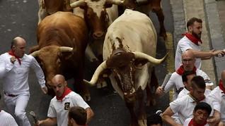 FOTO : Berdarah-darah demi Festival San Fermin