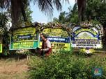 Situasi Rumah Duka Sutopo, Dibanjiri Karangan Bunga