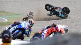 Bikin Dovi Jatuh di MotoGP Inggris, Quartararo Salahkan Rins