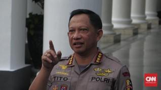 Kapolri Naikkan Pangkat Empat Polisi Terbakar di Cianjur