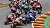 Marc Marquez start dari posisi terdepan di MotoGP Jerman yang berlangsung di Sirkuit Sachsenring. (Robert Michael/dpa via AP)