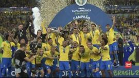 VIDEO: Timnas Brasil Akhiri Paceklik Gelar Copa America