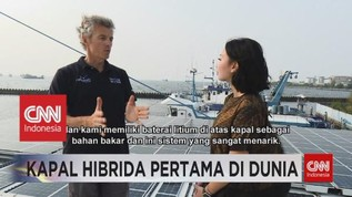 VIDEO: Kapal Hibrida Pertama di Dunia Singgah di Jakarta