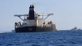 Kapal Tanker Iran yang Sempat Disita Inggris Kembali Berlayar