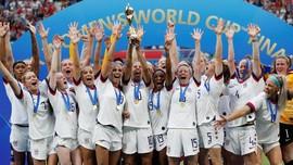 FOTO: Amerika Serikat Ratu Sepak Bola Dunia