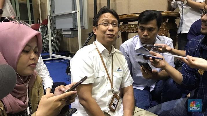 Direktur Utama PT Inalum (Persero) Budi Gunadi Sadikin (CNBC Indonesia/Anastasia Arvirianty)