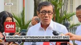 VIDEO: Menkumham Pertimbangkan Beri Amnesti untuk Baiq Nuril