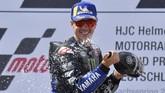 Maverick Vinales cukup puas dengan torehan runner up di MotoGP Jerman. (Photo by Tobias SCHWARZ / AFP)
