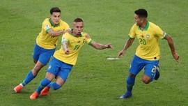 Brasil Unggul 2-1 atas Peru di Babak Pertama