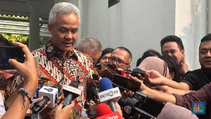 Gubernur Jawa Tengah, Ganjar Pranowo (CNBC Indonesia/Chandra Gian Asmara)
