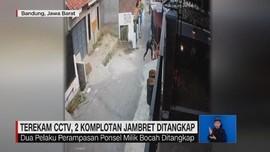 VIDEO: Terekam CCTV, 2 Komplotan Jambret Ditangkap