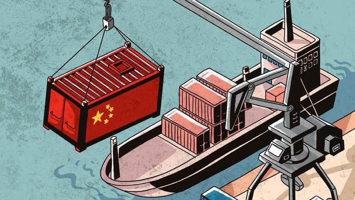Ketegangan hubungan dagang makin menekan volume perdagangan dunia. Hal ini memperlambat pertumbuhan ekonomi global.