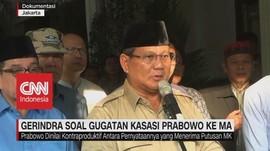 VIDEO: Gerindra Soal Gugatan Kasasi Prabowo Ke MA