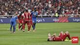 Skor 1-1 bertahan hingga laga bubar. Persija dan Persib masih berada di papan bawah klasemen Liga 1 2019. (CNN Indonesia/Adhi Wicaksono)