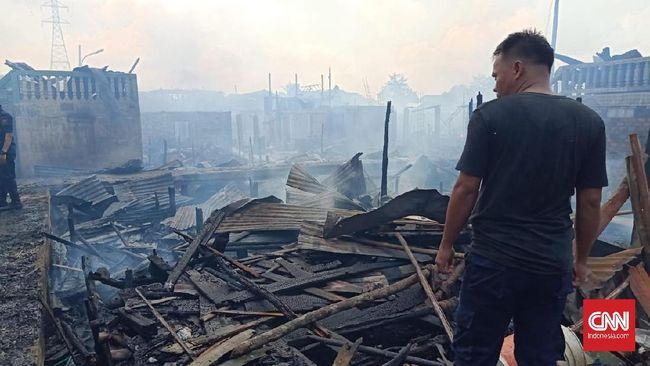 Kebakaran di Palembang, 107 Rumah Hangus