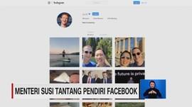 Menteri Susi Tantang Pendiri Facebook