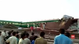 VIDEO: Kecelakaan Kereta di Pakistan Tewaskan 10 Orang
