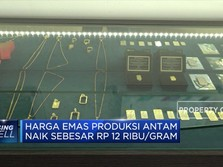 Harga Emas Produksi Antam Naik Rp 12.000/gram