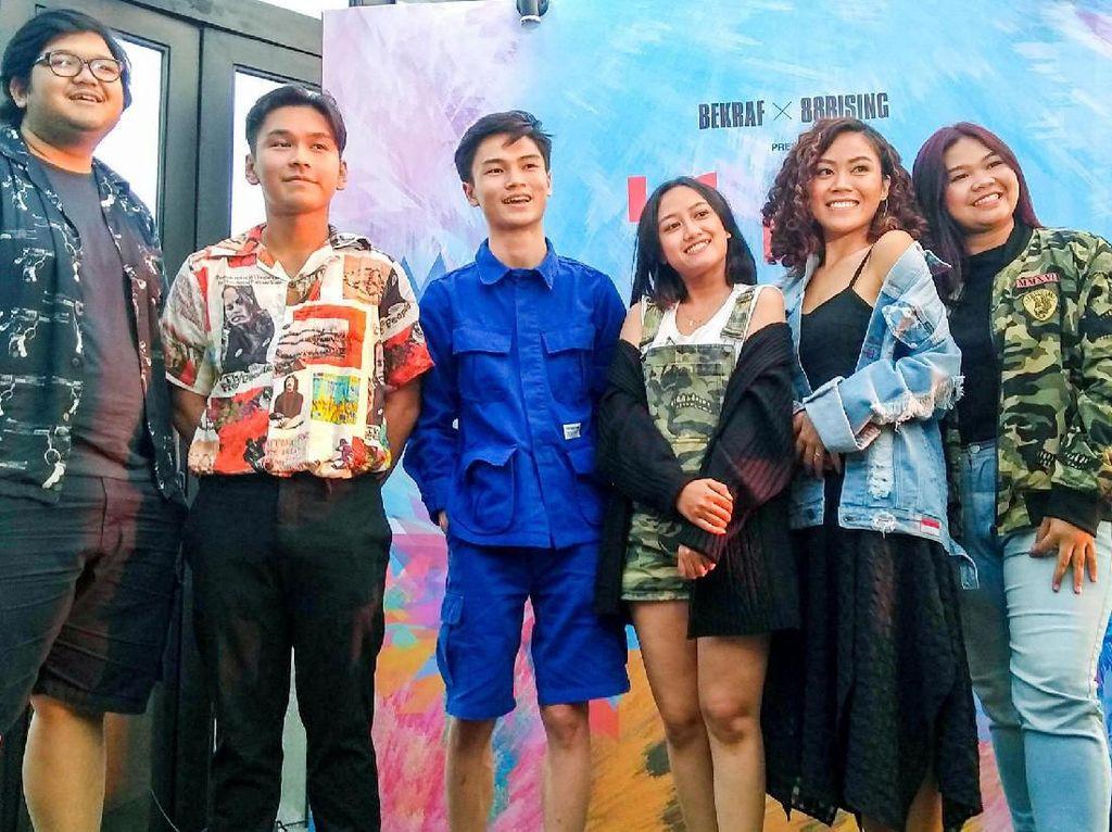 Para anak muda kreatif ini yang akan menjadi perwakilan untuk mengikuti ajang Head in the Clouds Festival pada 17 Agustus mendatang di Los Angeles-Amerika Serikat. Foto: dok. Bekraf