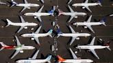 Boeing 737 Max yang di-grounded terparkir di Seattle, Washington, Amerika Serikat, awal Juli lalu. (Reuters/Lindsey Wasson)