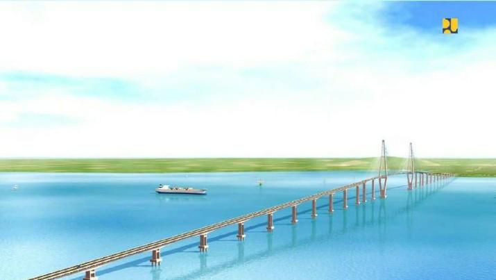 Calon Jembatan Terpanjang di RI, Belah Laut & Pulau 7 Km
