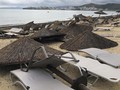 FOTO : Topan dan Badai Es Terjang Yunani